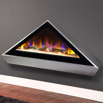 Celsi Electriflame VR Louvre 1.6kw Inset Electric Fire - Silver