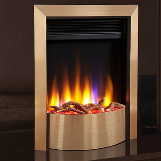 Celsi Ultiflame VR Contemporary 1.5kw Electric Fire - Satin Champagne
