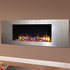 Celsi Ultiflame VR Metz 1.6kw Electric Fire - Satin Silver