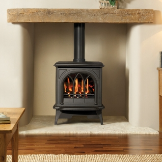 Gazco Huntingdon 30 - 3.8kw Balanced Gas Stove with Tracery Door