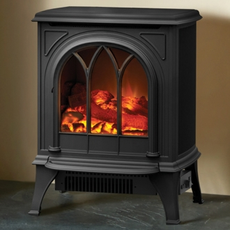 Gazco Huntingdon 20 - 2kw Electric Stove with Tracery Door